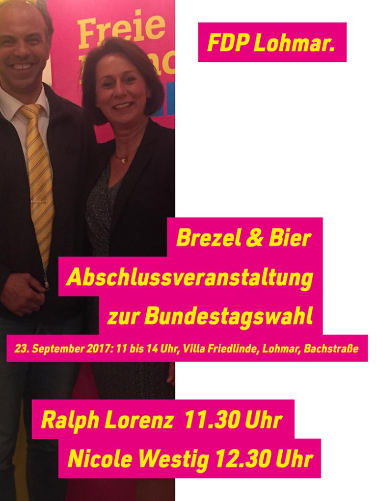 Bundestagskandidaten Lorenz und Westig kommen nach Lohmar
